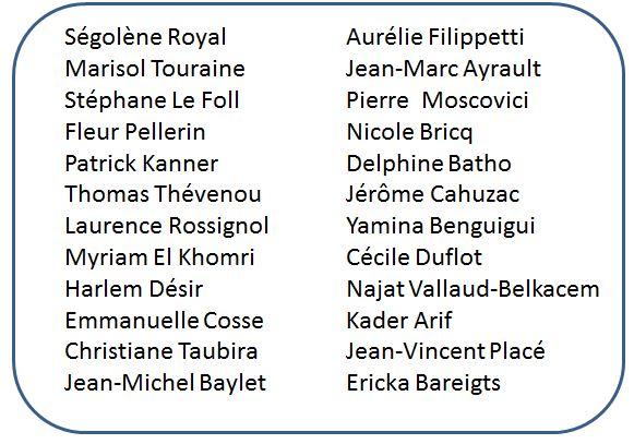 Ministres sous Hollande
