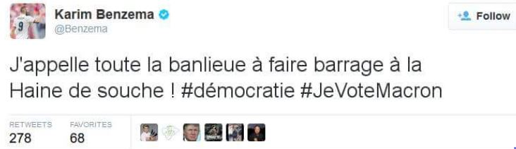 Karim Benzema vote Macron