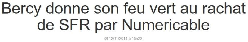 BFMBUSINESS-achat de SFR par Numericable-12.11.2014