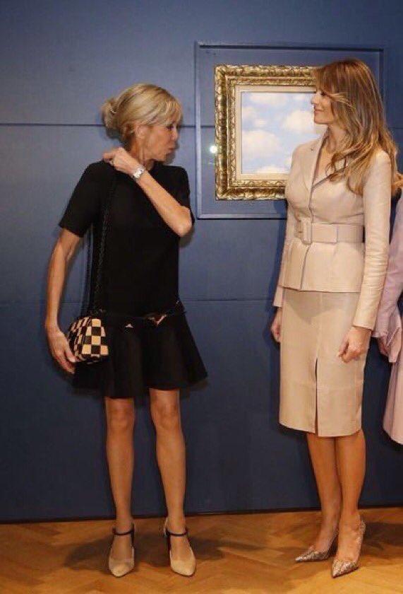 Mmes Macron et Trump-OTAN-mai 2017