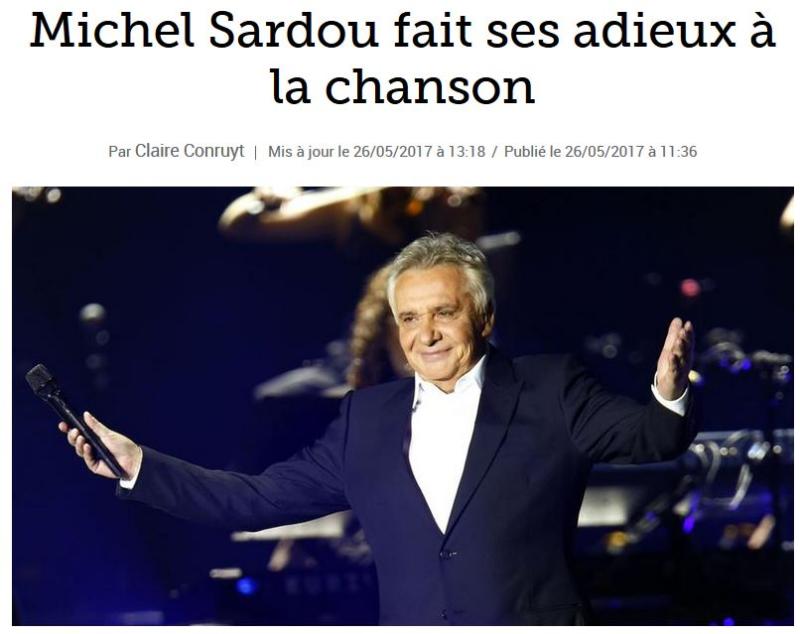 Michel Sardou - Adieux à la chanson