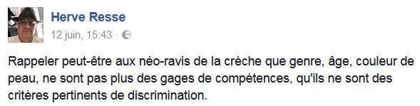 Hervé Resse-les néo-ravis de la crèche-Facebook 14.06.2017