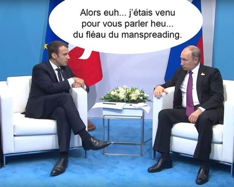 Macron-Poutine-Manspreading