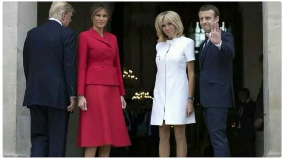Les couples Trump et Macron à Paris-juillet 2017