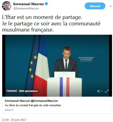 Macron TWEET pour l'Iftar-20.06.2017