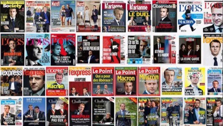 Macron-collection de couvertures magazines
