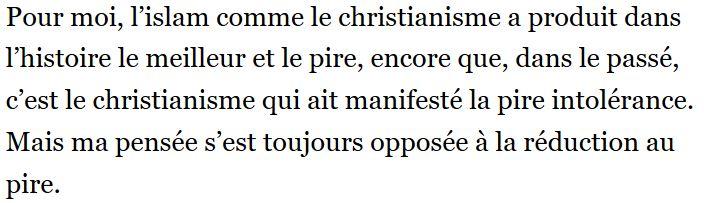 Edgar Morin-islam et christianisme-07.11.2017