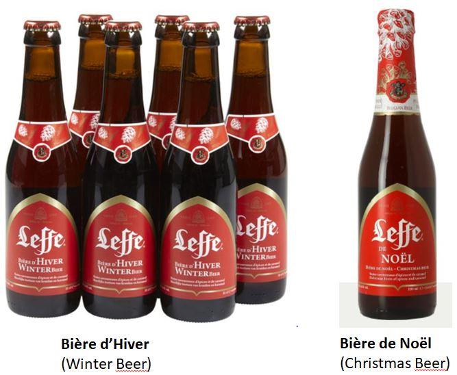 Leffe - Bière d'hiver et bière de Noël