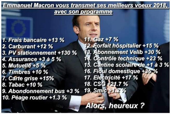 Les voeux PLUS de Macron pour 2018