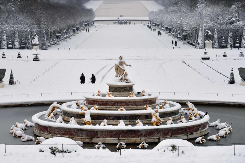 Neige-Versailles-dans le parc-février 2018