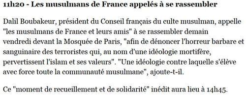 Les musulmans de France appelés à se rassembler-25.09.2014