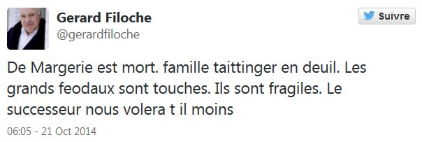 Gérard Filoche TWEET 1
