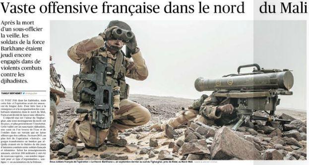 LE FIGARO - vaste offensive au Mali- 31.10.2014