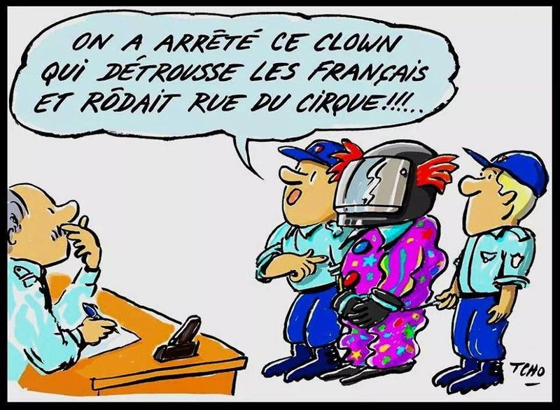 Le clown de la Rue du Cirque