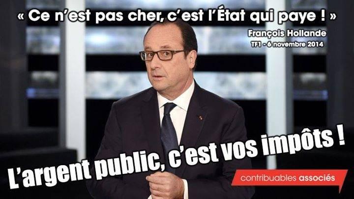 Hollande-pas cher c'est l'Etat qui paye-06.11.2014