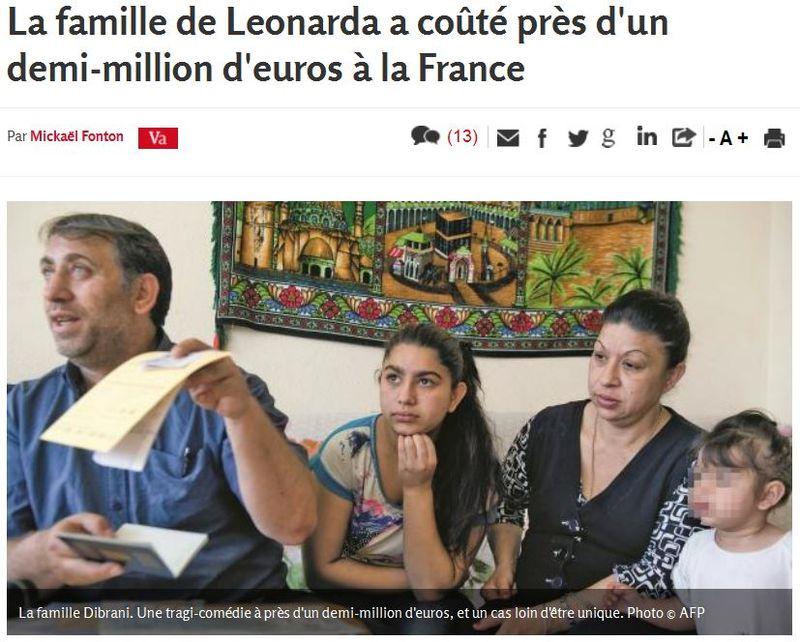 La famille de Leonarda Dibrani