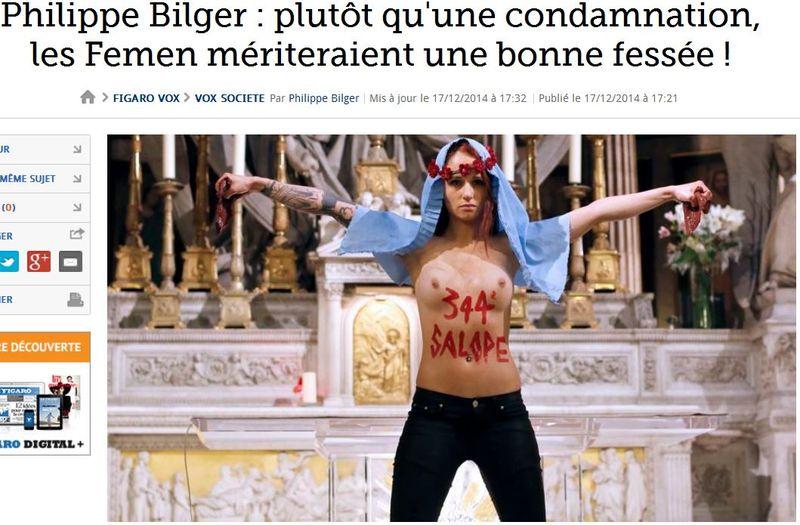 Philippe Bilger - les femen mériteraient une bonne fessée