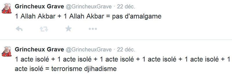 TWEETS - GG cas isolés et allah akbar - 22.12.2014JPG