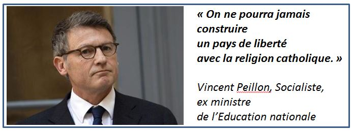 Vincent Peillon - sur la religion catholique