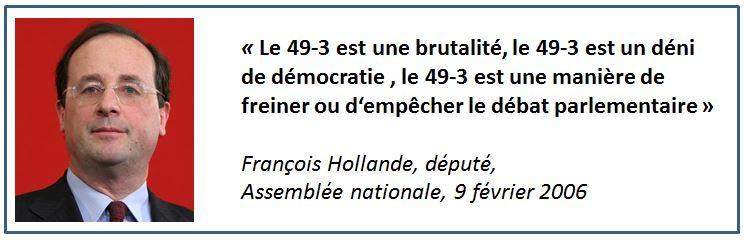Hollande à propos du 49-3 en 2006