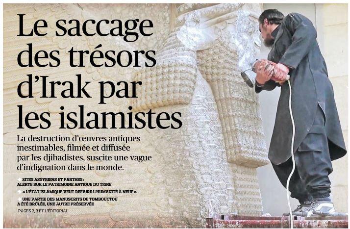 Irak - saccage d'un musée par les islamistes - 27.02.2015