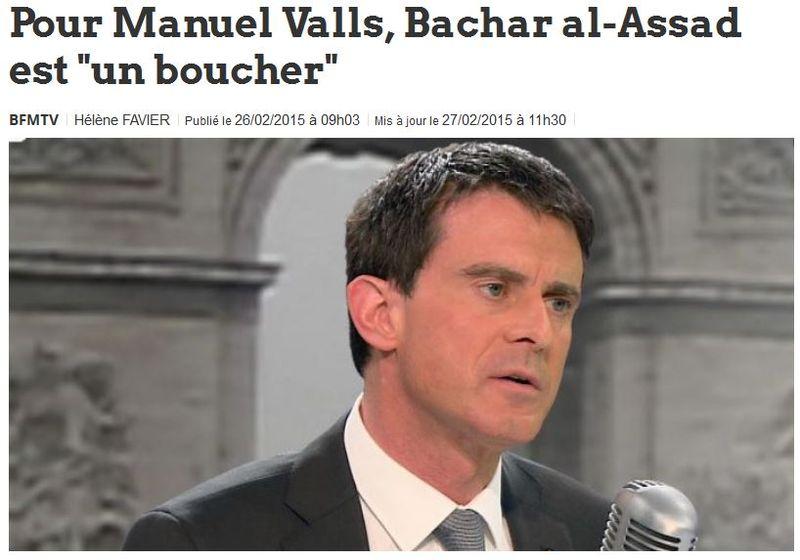 Valls-Bachar-al-Assad est un boucher-27.02.2015