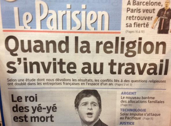 Le Parisien - Titre une - 21.04.2015