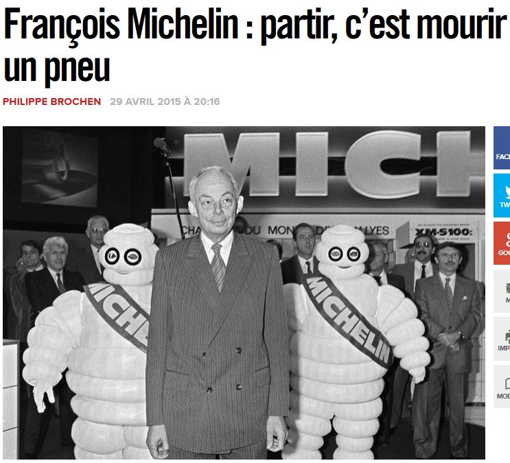 Michelin partir c'est mourir un pneu LIBERATION