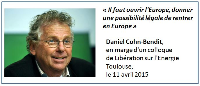 TWEET-Cohn-Bendit il faut ouvrir l'Europe - avril 2015