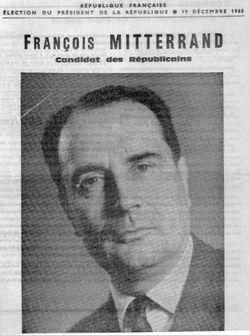 Mitterrand candidat des républicains en 1965