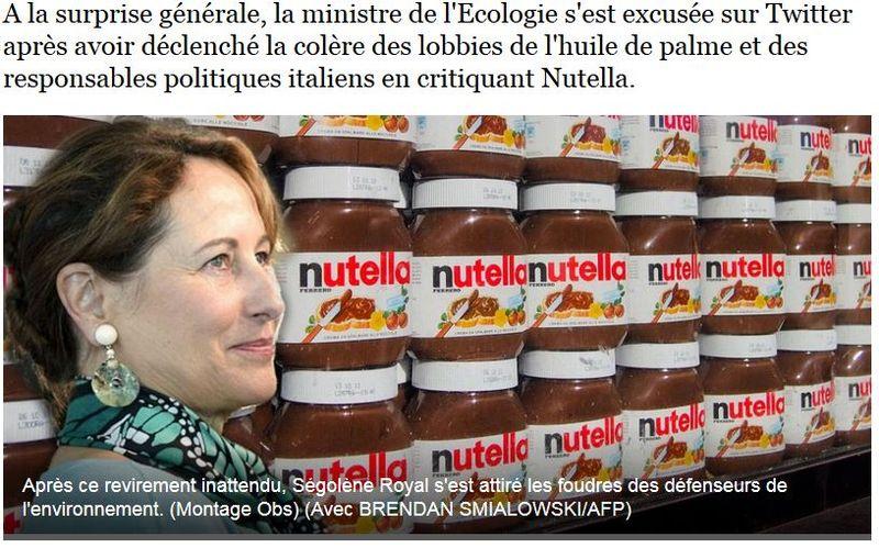 L'OBS-Nutella reculade de Ségolène Royal-17.06.2015