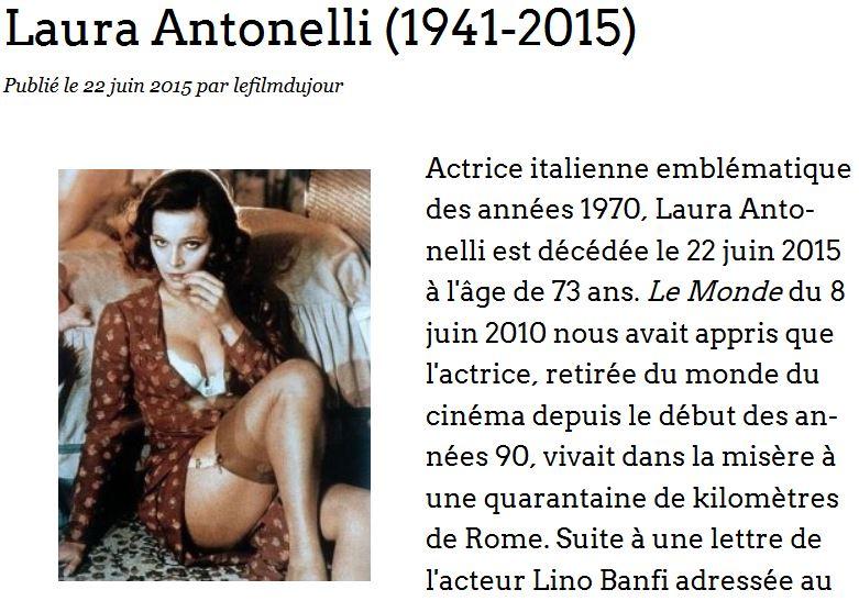 Laura Antonelli - Le film du jour