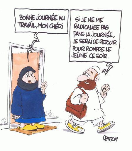 Islam-dessin-un matin ordinaire à Saint-Priest - Rhône