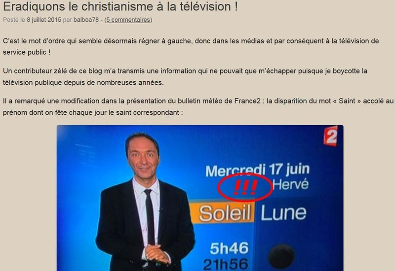 Blog Je susi stupide j'ai voté Hollande-reprise billet GG sur les saints à la TV