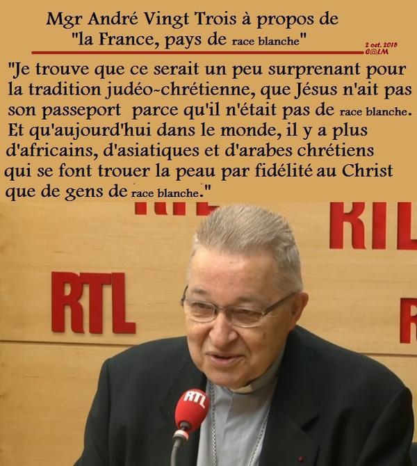 Mgr André Vingt-Trois sur RTL-oct 2015