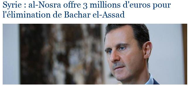Al Nosra veut la mort de Bachar El-Assad
