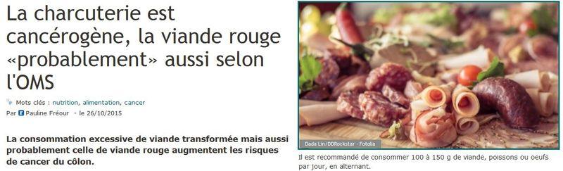 Charcuterie cancérogène-Le Figaro-26.10.2015
