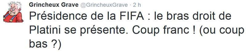 TWEET GG - Le bras droit de Platini - FIFA - 27.10.2015