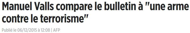 Valls-bulletin de vote arme anti-terrosirme-06.12.2015