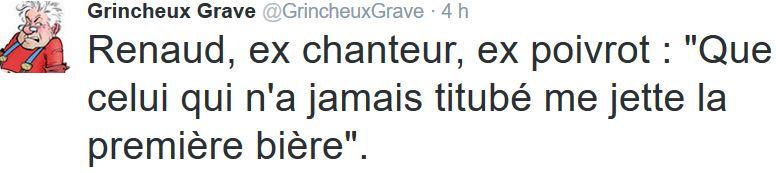 TWEET GG-Renaud ex chanteur-26.01.2016