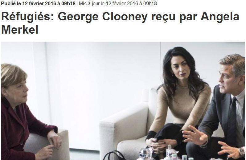 George Clooney reçu par Angela Merkel