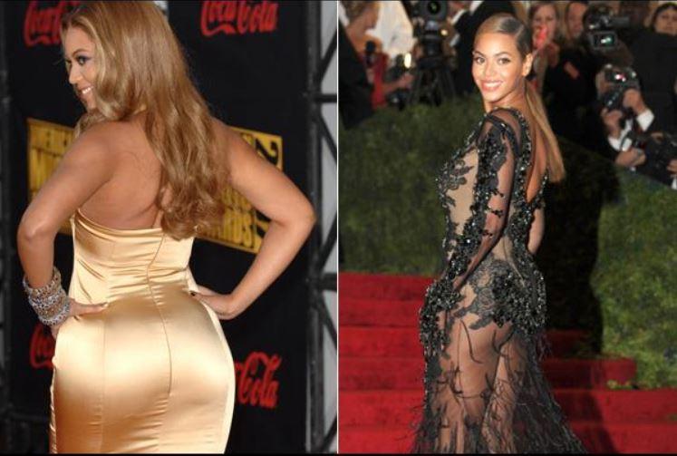 Beyoncé met son derrière en avant