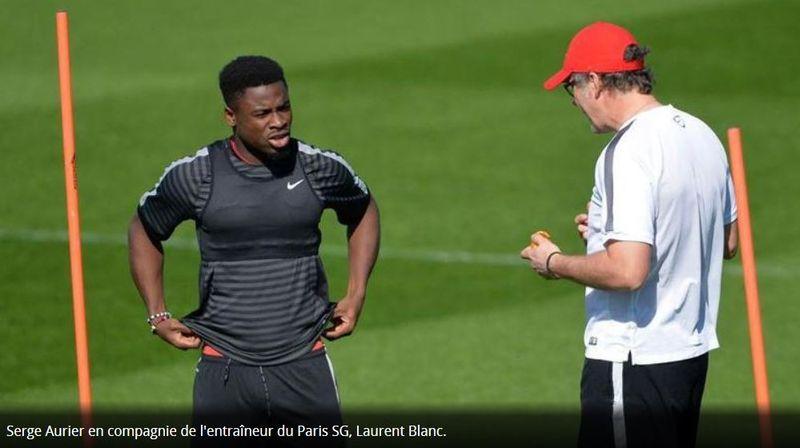 Aurier et Blanc au PSG