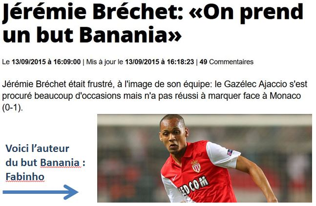 L'EQUIPE-on prend un but banania