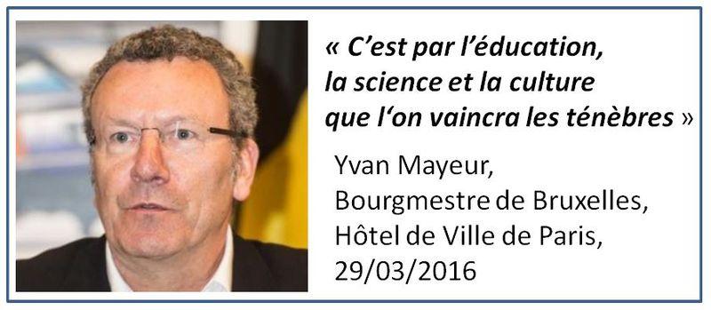 Yvan Mayeur-bourgmestre de Bruxelles-29.03.2016