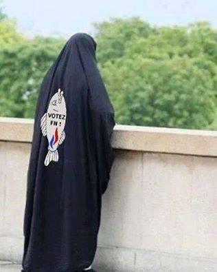 Poisson d'avril sur burqa