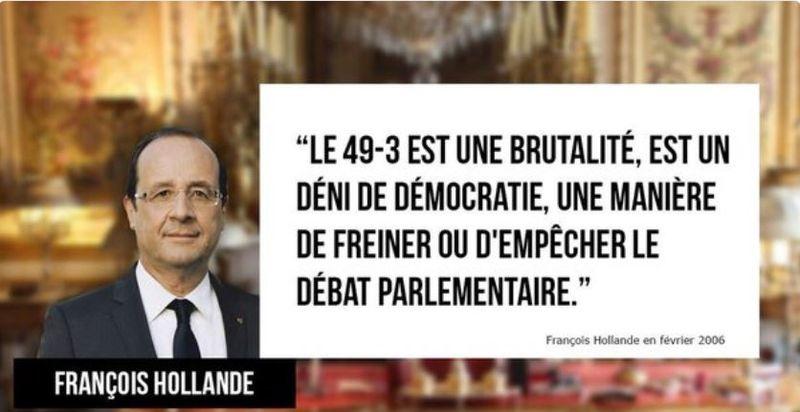 Hollande contre le 49.3 en février 2006