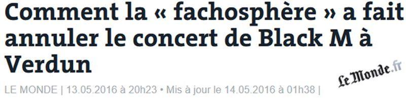 Le Monde-Verdun - Black M - Fachosphère - 13.05.2016