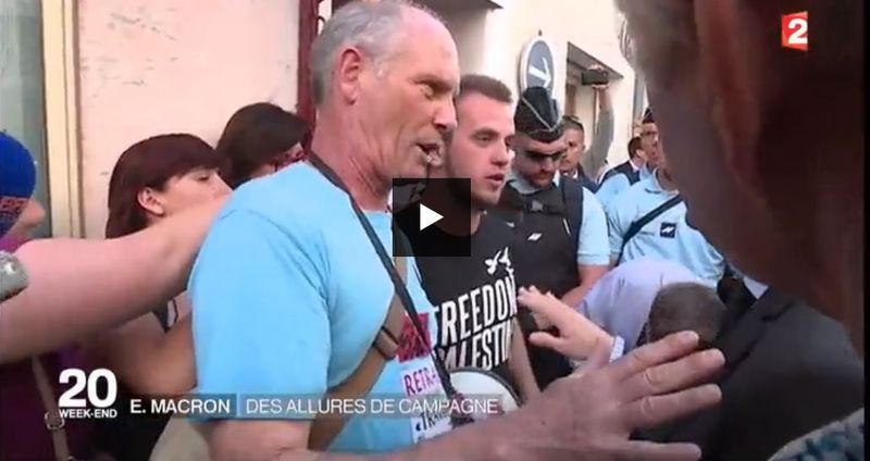 Macron et le tee-shirt de Lunel-BFMTV-27.05.2016