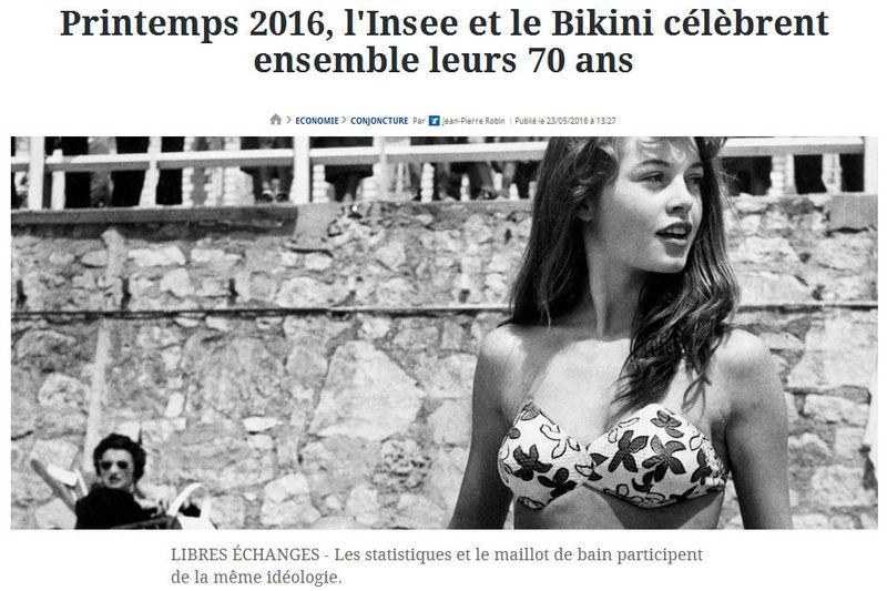 Insee et bikini 70 ans